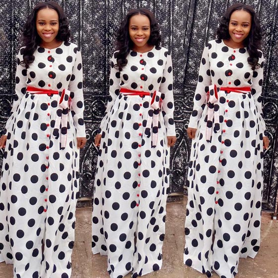 This Flowing Maxi Dress Worn By Wanneka Luxury Hair Boutique CEO