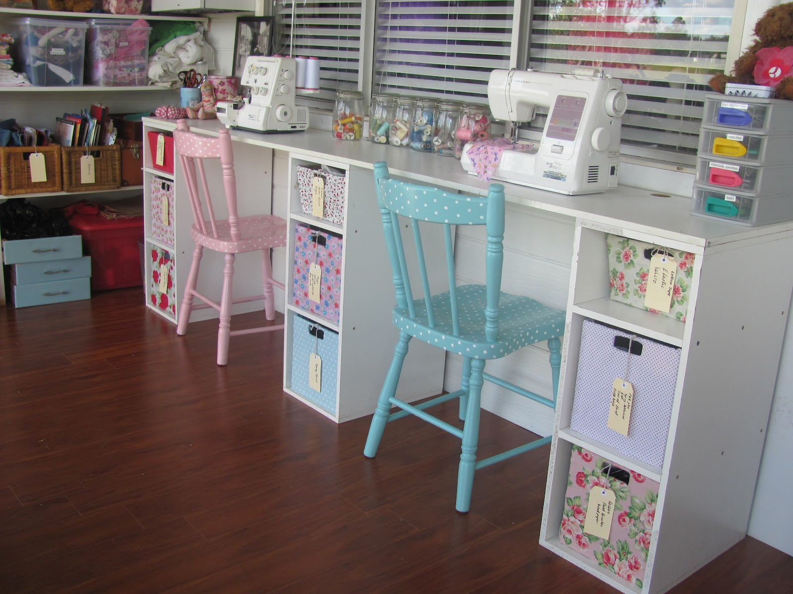 Sewing Room Designs: Five Brothers One Sister: My Vintage Look Sewing Room