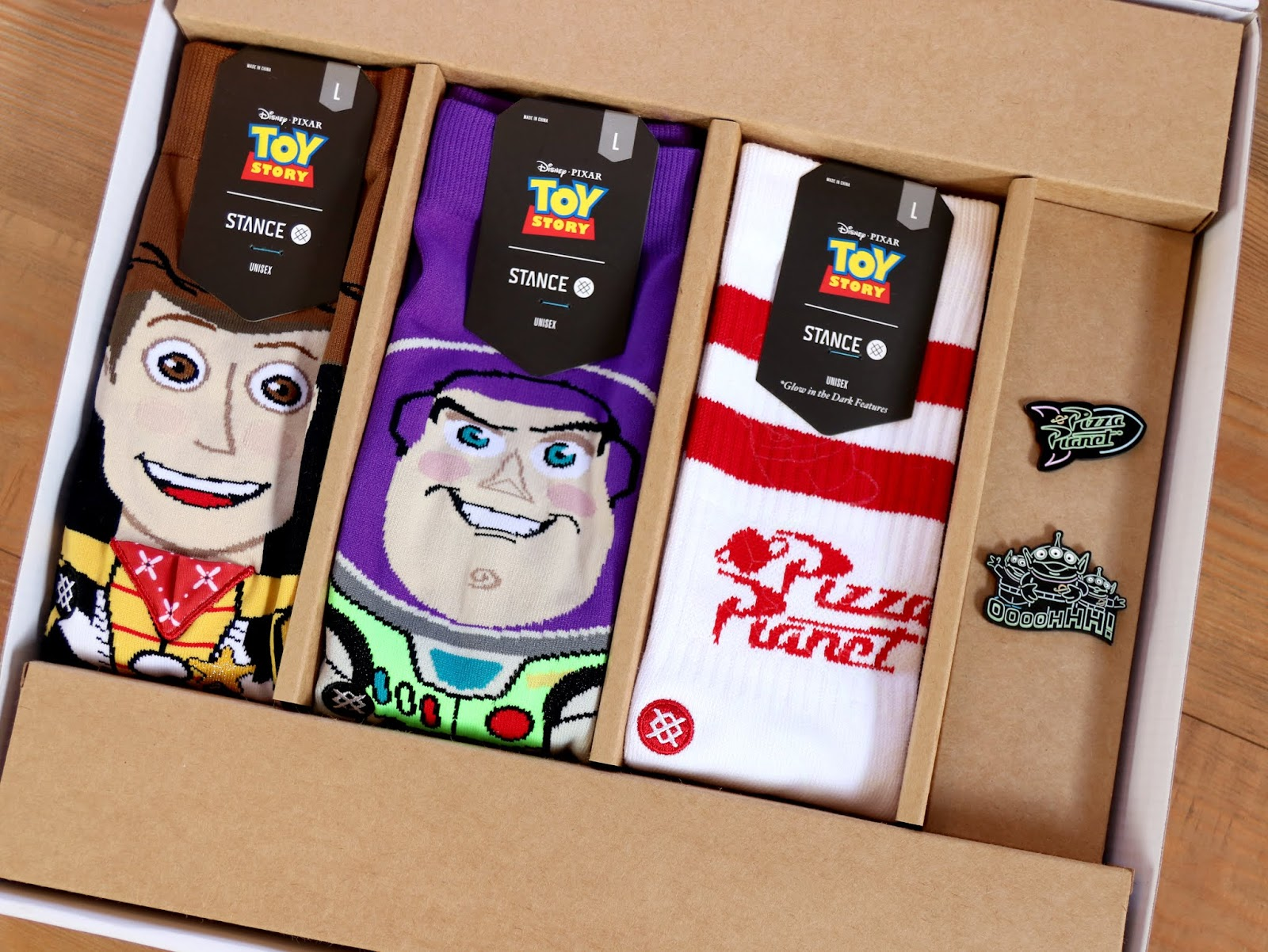toy story pizza planet box set stance socks