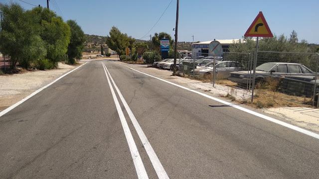 Από την Αργολίδα ξεκίνησε η Περιφέρεια την αναβάθμιση της διαγράμμισης και σήμανσης του οδικού δικτύου