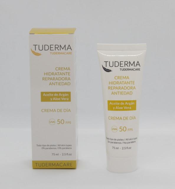Crema hidratante reparadora antiedad con protección solar
