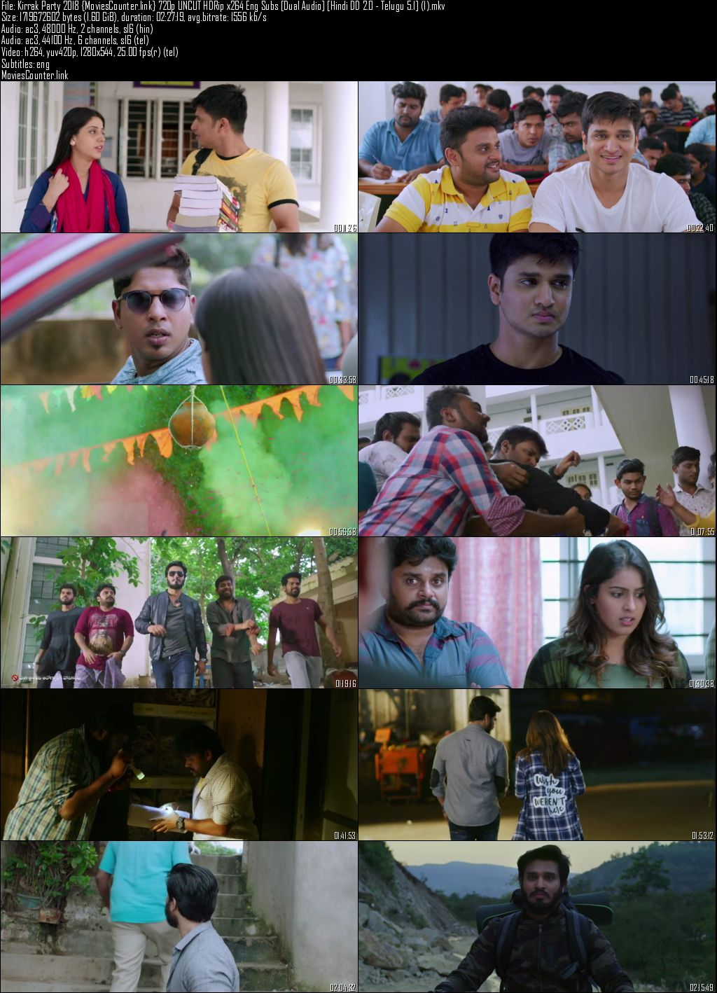 Screen Shot Kirrak Party 2018 Hindi Dubbed HD 720p