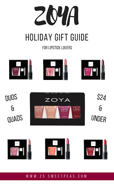 Zoya Holiday Gift Guide for Lipstick Lovers