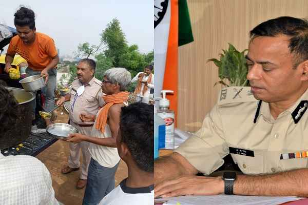 faridabad-khori-gaon-police-giving-food-to-poors