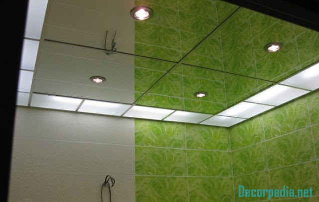 bathroom ceiling designs 2019, mirror ceiling for bathroom with lighting ideas