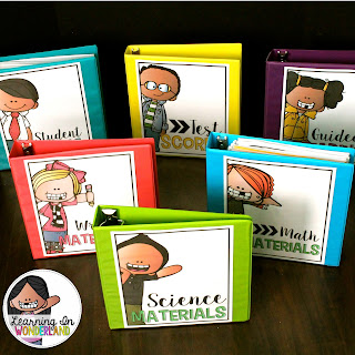 Use these cute binders to stay organized!