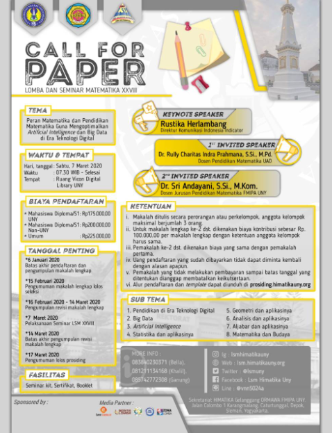 Call For Paper LSM 2020 di UNY