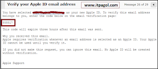 Verify Your Apple ID Email Address.