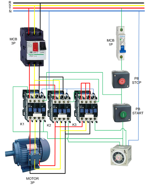 Electrical Stop Start Station Wiring Diagram Mirror Ray Simulation Le Moteur Asynchrone Triphasé - Automatisme Industriel
