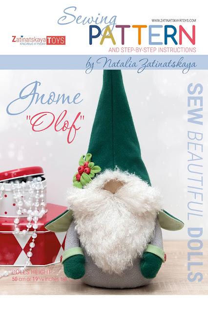 cover of PDF Olof Christmas gnome patterns and sewing tutorials by Zatinatskaya Natalia