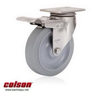 Bánh xe cao su càng bánh xe inox 304 | 2-3356SS-444-BRK4