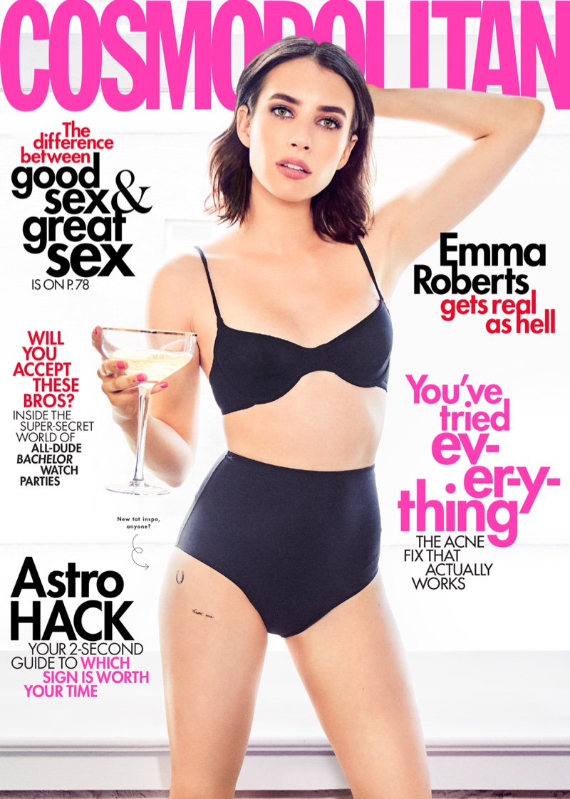 Emma Roberts on Cosmopolitan Magazine June 2019 Cover