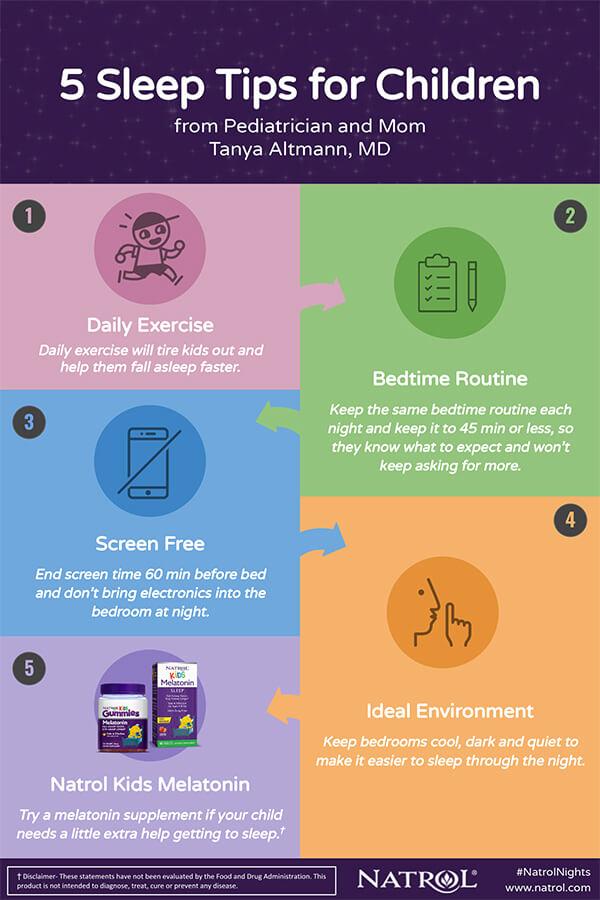 5 Sleep Tips For Children #infographic