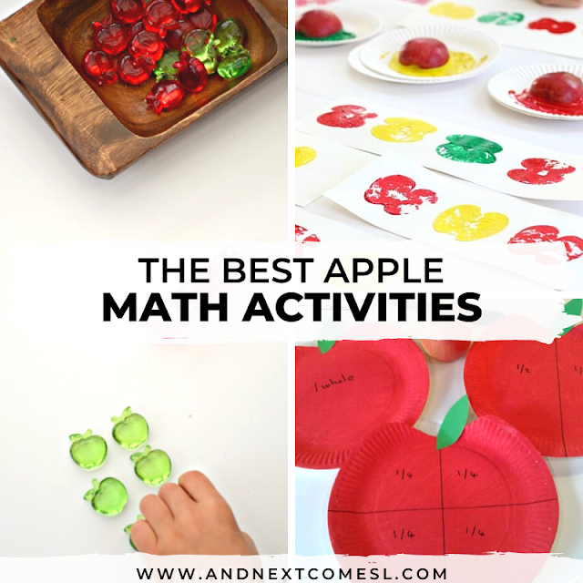 Apple math games for preschoolers and for kindergarten