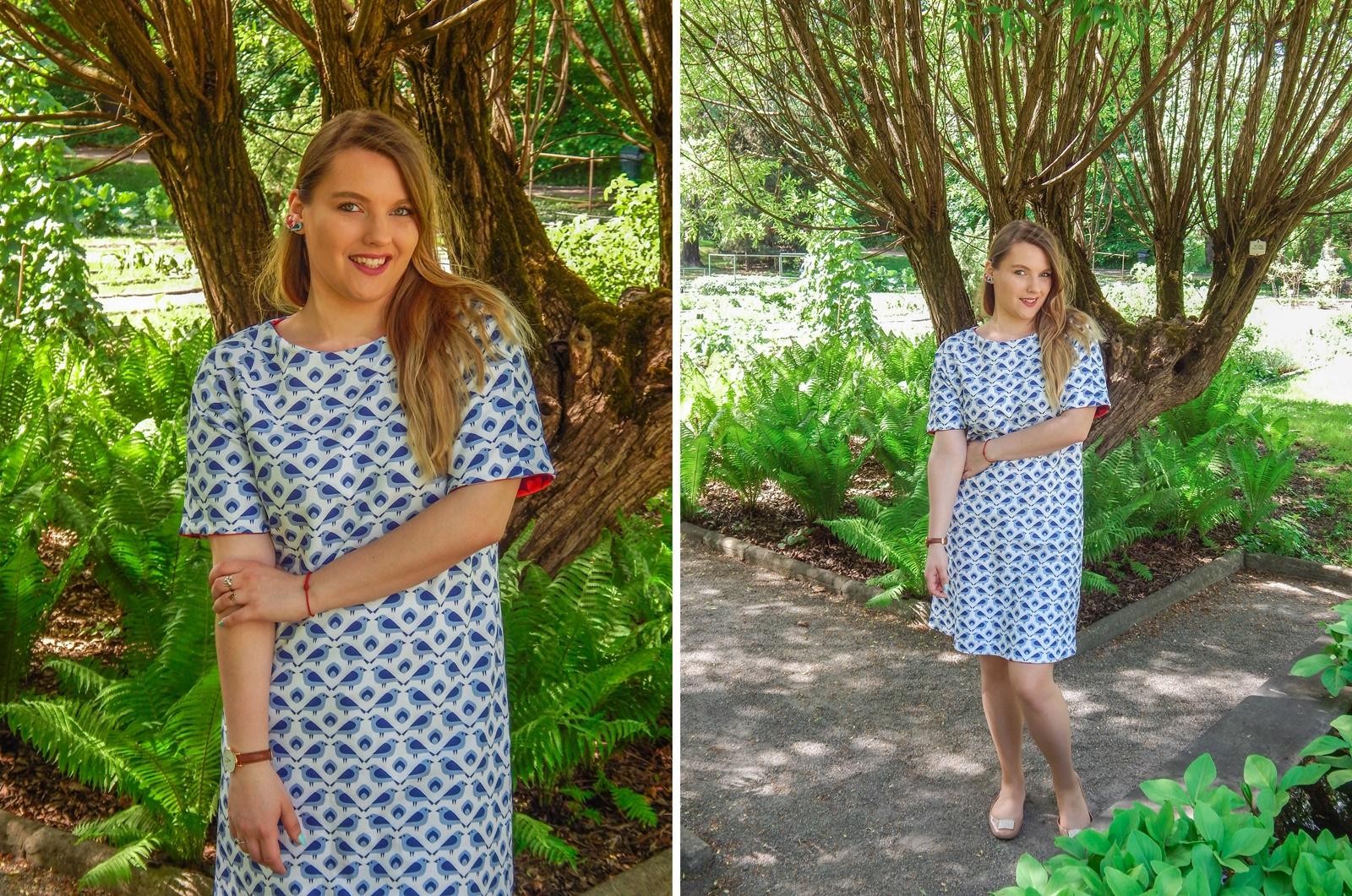 2 samodobro dwukroopek dwustronna sukienka dla mamy prezent dla mamy i córki drewniana biżuteria wróbel i dzika róża metka z opowiadaniem ciekawe mlode polskie marki odzieżowe moda lifestyle łódź