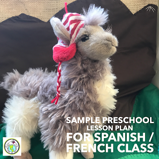 Sample Preschool Lesson Plan Template for Spanish and French