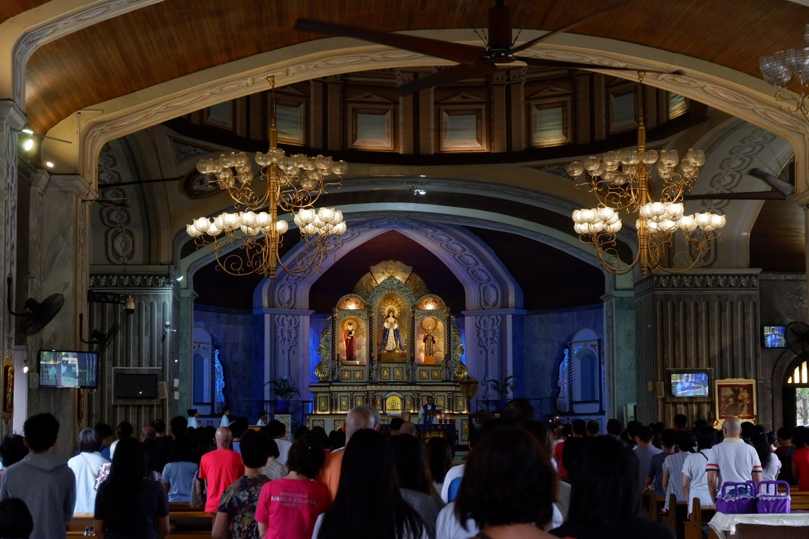 inside the San Felipe Church in Mandaluyong