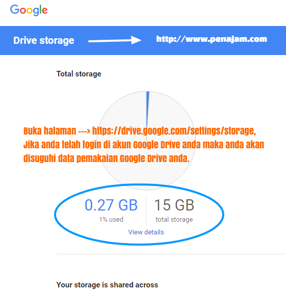 Penajam Com Update Cara Mengetahui Pemakaian Kuota Google Drive