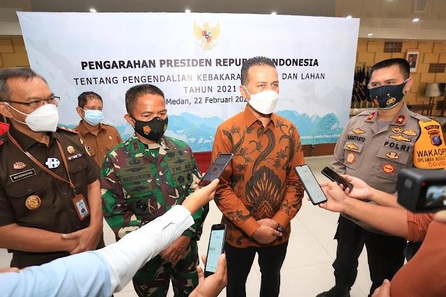 Hingga 22 Februari, Terdeteksi 25 Hot Spot Kebakaran Hutan di Sumut