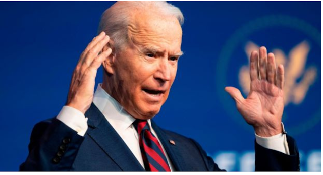 Joe Biden denounces Trump's administration as irresponsible; accuses the US Defense Department of obstructing the change.