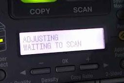 Cara Mengatasi ADJUSTING WAITING TO SCAN Fotocopy Canon iR1024