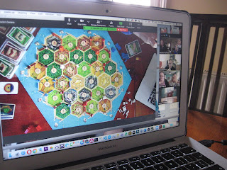 Playing Settlers of Catan online during lockdown
