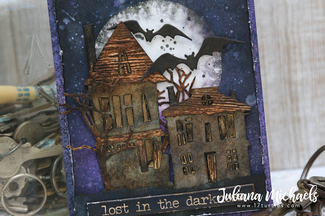 Lost In The Darkness Halloween Card  featuring Tim Holtz Sizzix by Juliana Michaels