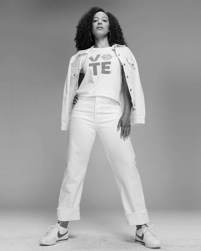 Angela Rye stars in Levi's Use Your Voice Voting campaign.