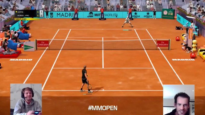 Andy Murray & Kiki Bertens clinch  Virtual Madrid Open titles