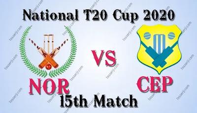 Who will win NOR vs CEP 15th match