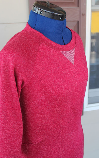 Lola from Victory Patterns made from a sweatshirt knit