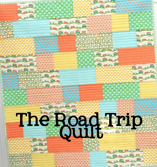 """The Road Trip Quilt"" Free Easy Quilt Pattern designed by Allison from Cluck Cluck Sew"
