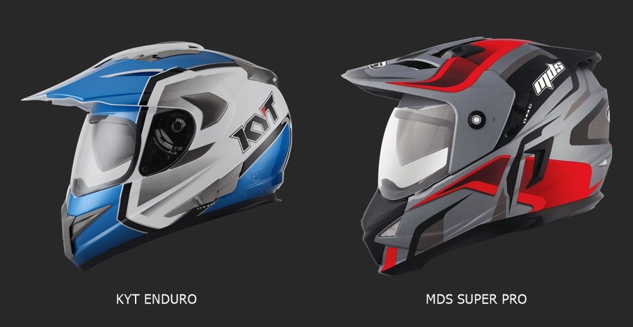 KYT Enduro VS MDS Super Pro