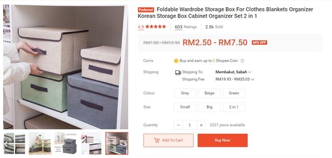 foldable storage box space savings