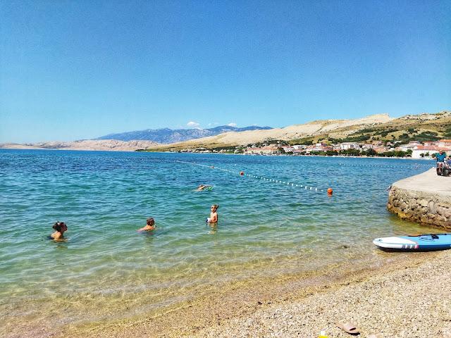 plaże na wyspie Pag, Chorwacja,