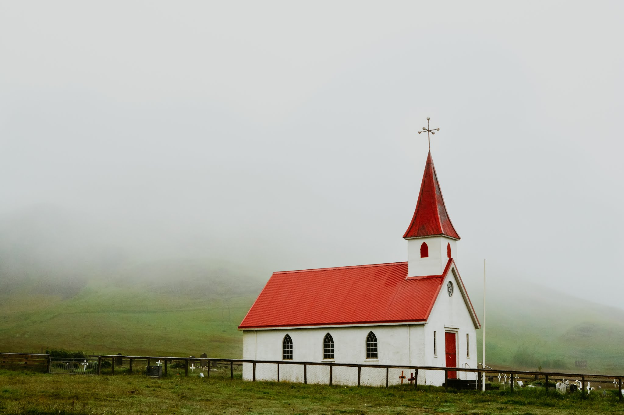 Red Roof Church Iceland