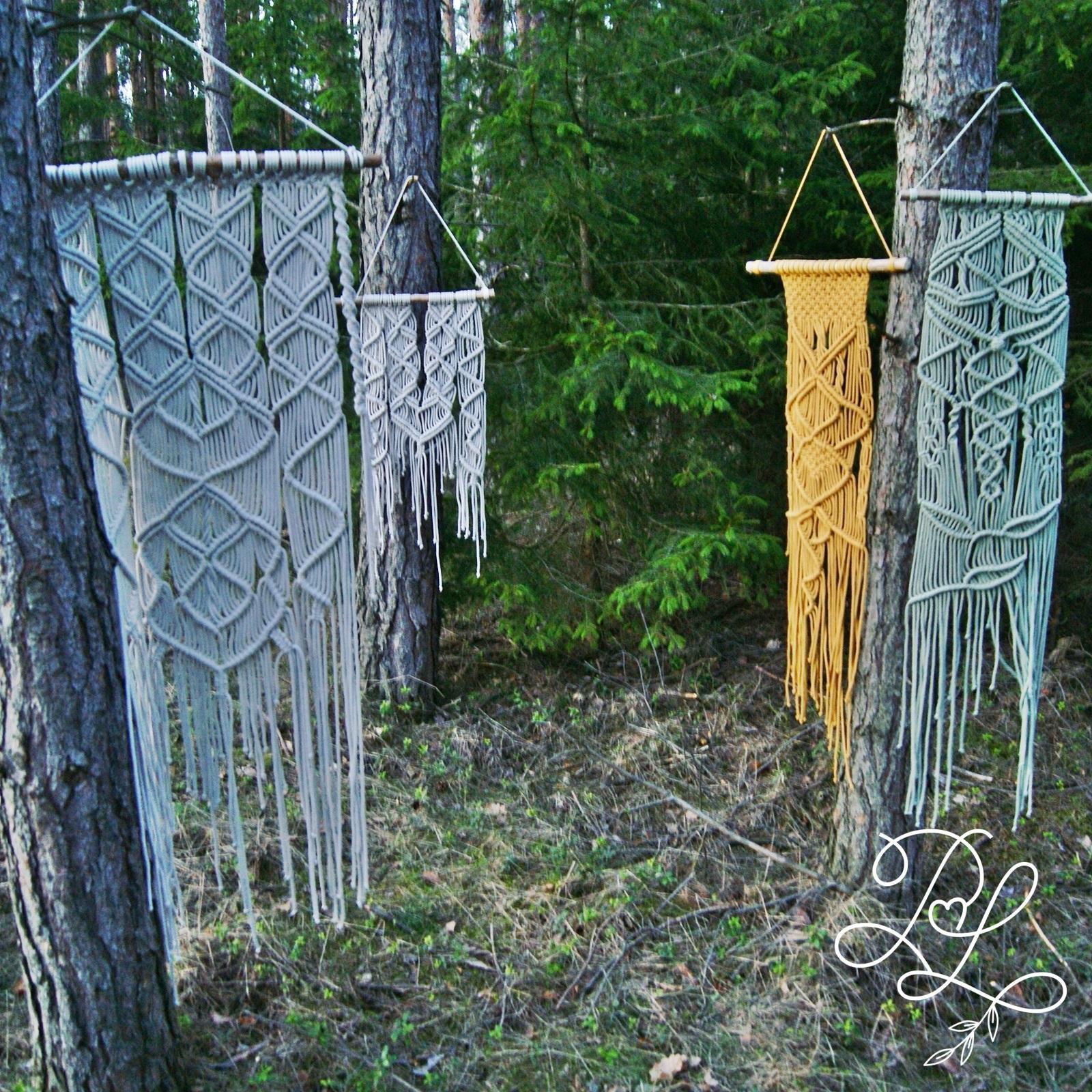 Makrama mojego autorstwa - Papierowe Love - sklep papierniczy i pracownia rękodzieła Katarzyna Rajczakowska