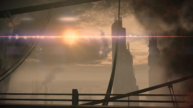 The Prothean Walkway on Feros in Photo Mode in Mass Effect