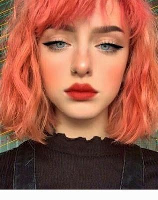maquillaje en tono durazno
