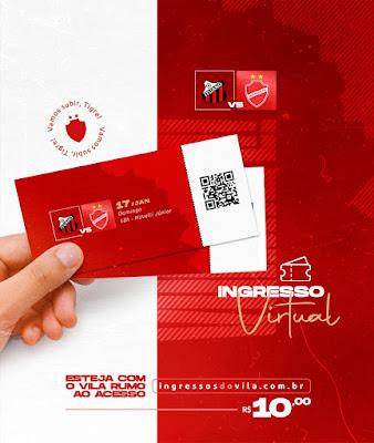 Vila Nova lança ingresso virtual para a decisão contra o Ituano
