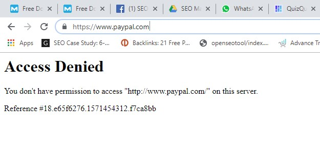 paypal access denied