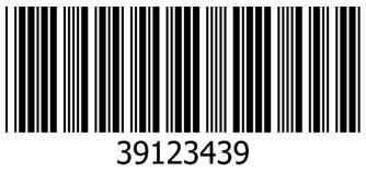 Barcode jenis Code 39