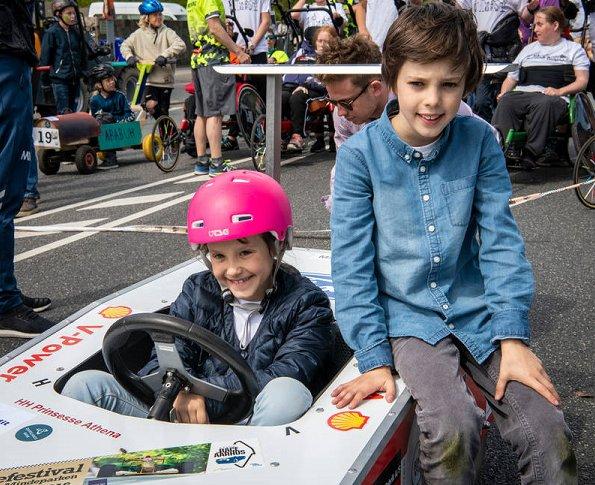 Princess Marie, Prince Joachim and Prince Henrik at. The Classic Race Aarhus festival