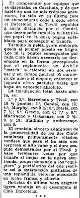 III Campeonato de Catalunya de Ajedrez por Equipos, El Sol, 22 de mayo de 1932