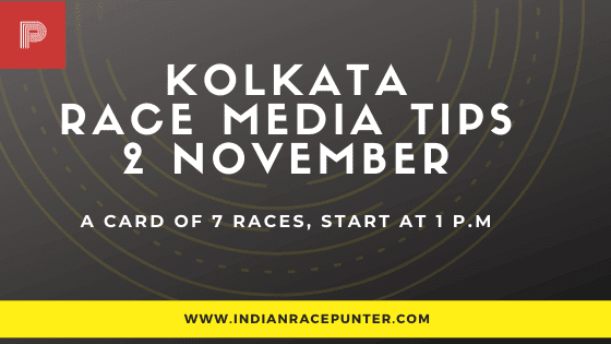 Kolkata Race Media Tips, indiarace,  free indian horse racing tips