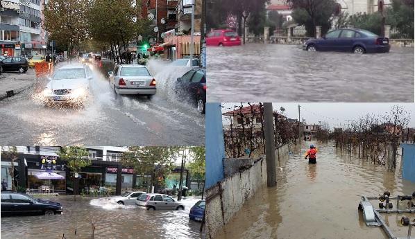 Main roads flooded