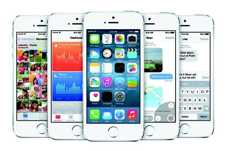 iPhone 5S dengan iOS 8