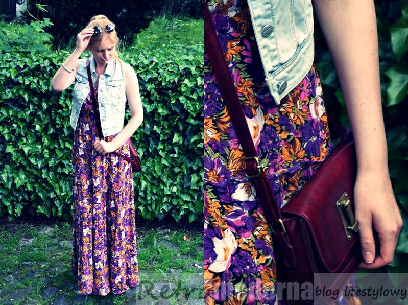 Maxi sukienka w kwiaty na lato