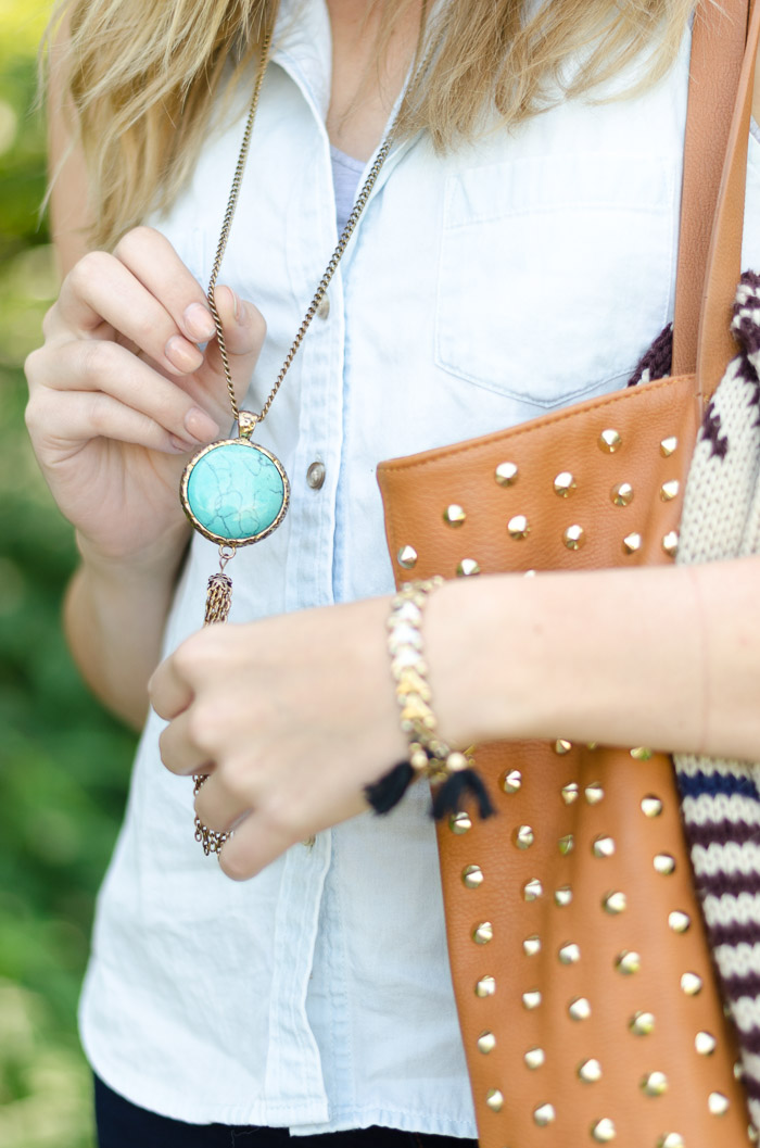 Turquoise jewelry in the summer