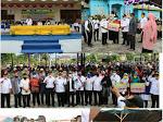 Rombongan Bupati Pelalawan  Kunjangan Kerja Ke Kecamatan Kuala Kampar Serahkan PTSL dan BLT